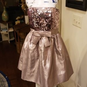 Betsey Johnson Sz 6 Dusty Pink Sequin Party Dress